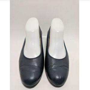 Soft Spots Blue Soft Leather Comfort Women's Flats
